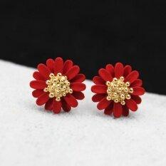 f4a6678bb Design Fashion Elegant Jewelry Big Flowers Stud Earrings for Women Girl  Ladies Red