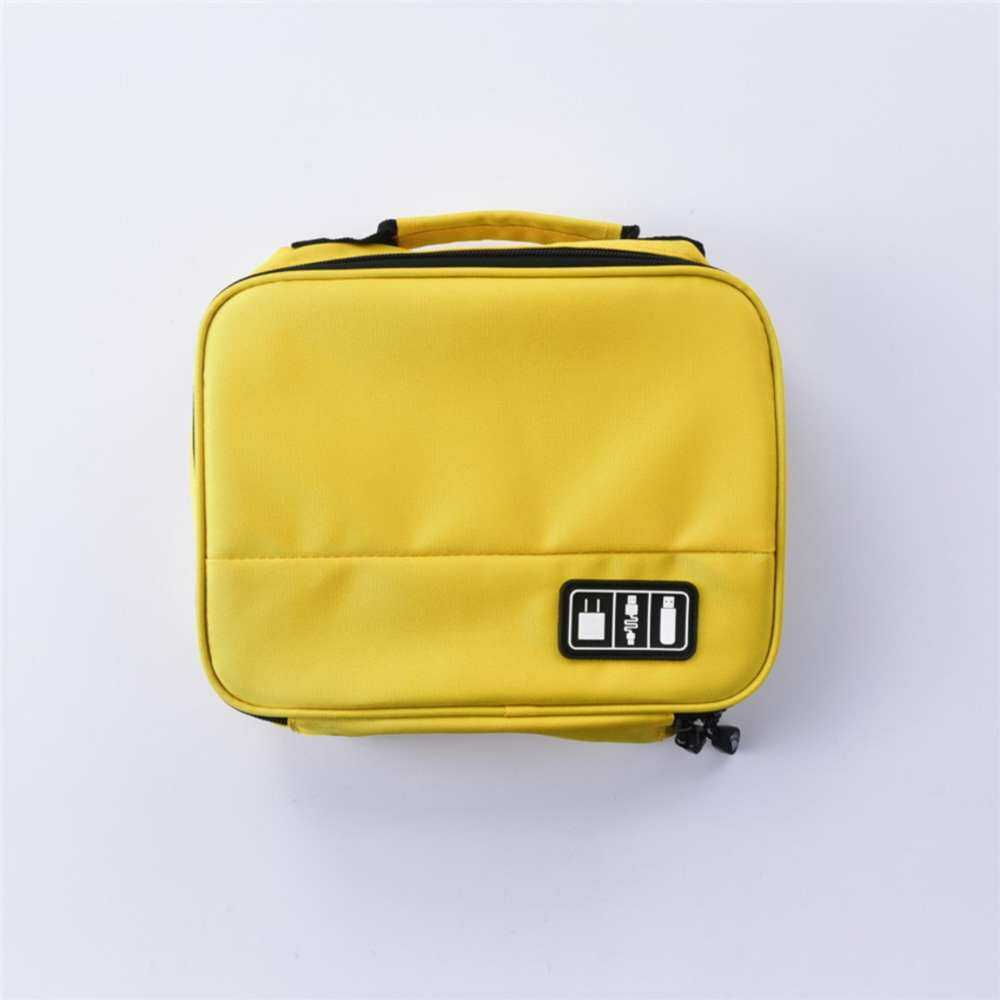 Digital Gadget Case Electronics Accessories Organiser Storage Boxes Bags Yellow Travel