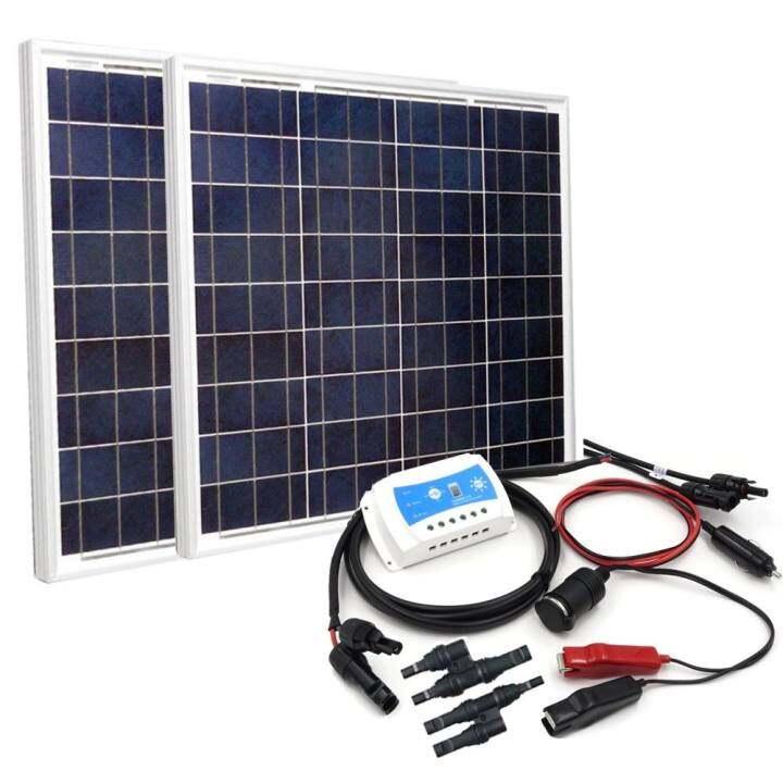 Diy 100w Solar Panel Power Charging Kit Lazada
