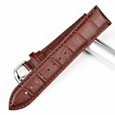 DJ Premium Calfskin Leather Watch Band Strap For Man Andwoman - Dark Brown / Width 21Mm Malaysia