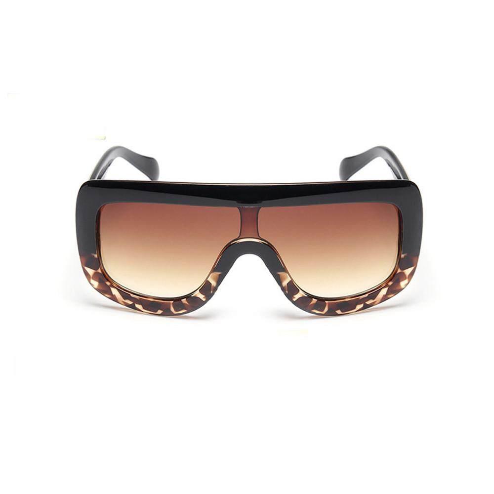 Dorianeshop Wanita Pria Fashion Bingkai Besar Square Kacamata Hitam Merek Kacamata Klasik-Intl