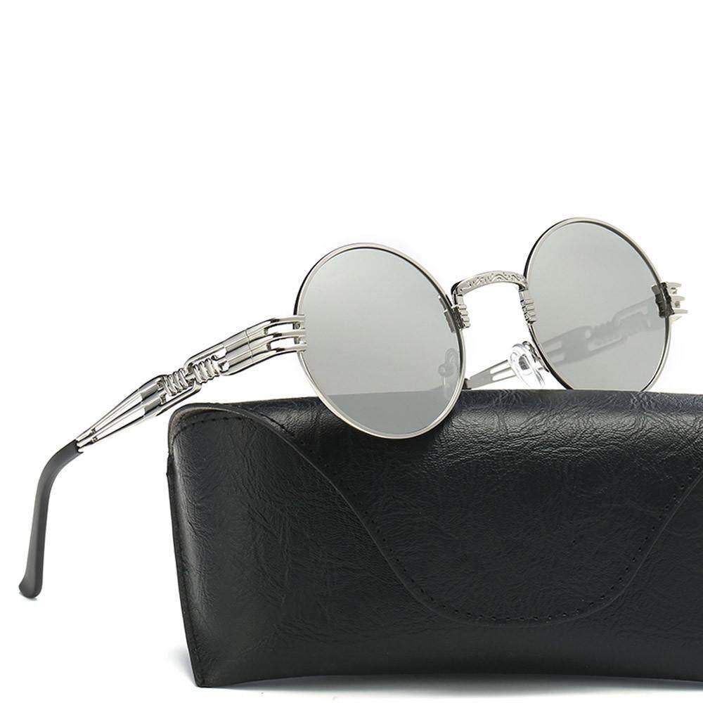 Dorianeshop Wanita Kacamata Bundar Retro Unisex Mode Cermin Pilot Lensa Kacamata Perjalanan Saya-Internasional