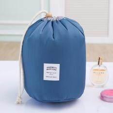 Drawstring Travel Cosmetic Make Up Organiser Toiletries Storage Pouch (dark Blue) By Shopimo.