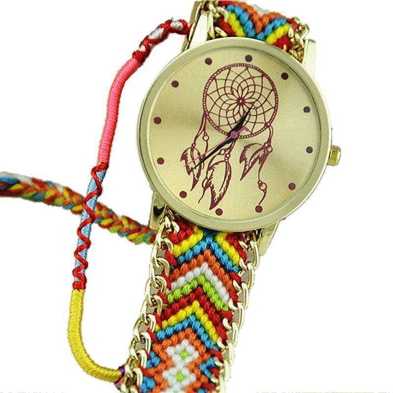 Dreamcatcher Friendship Bracelet Watches Women Braid Dress Watches Hot+BU Malaysia
