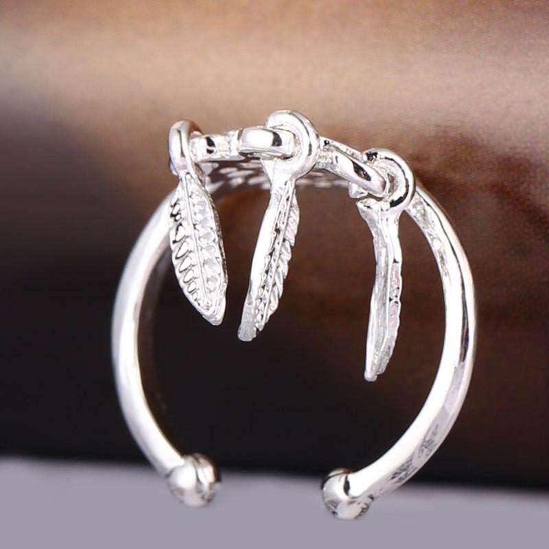 Dreamcatcher Rings Feather Charm Pendant Dream Catcher Wish Ring SL - intl
