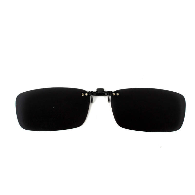 cffc07cc62 Driving Polarized UV 400 Lens Clip-on Flip-up Sunglasses Glasses (Black