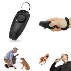 Gm 2in1 Anak Anjing Peliharaan Kucing Clicker Latihan Whistle Klik Pelatih Ketaatan Hitam By Gaowang Mall.
