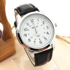 Elegant Analog Luxury Sports Leather Strap Quartz Mens Wrist Watch Malaysia