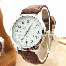 Elegant Analog Luxury Sports Leather Strap Quartz Mens Wrist Watch Brown Malaysia