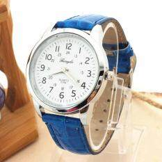 Elegant Analog Luxury Sports Leather Strap Quartz Mens Wrist Watch BU Malaysia