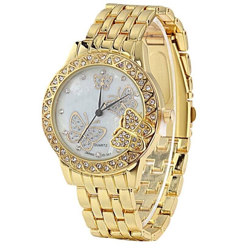 Elegant Butterfly Rhinestone Alloy Quartz Analog Wristwatch(Gold) Malaysia