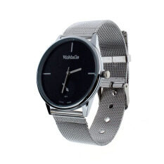 Elegant Classic Mens Analog Quartz Clock Stainless Steel Wrist Watch Black Malaysia