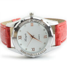 Elegant Women Girl Watch Rhinestone Quartz OL Ladies Wrist Watch Red Malaysia
