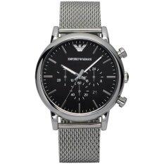 Emporio Armani Mens Classic Chrono Black Dial Steel Watch AR1811 Malaysia