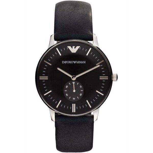 Emporio Armani Mens Gianni Black Dial Leather Watch AR0382 Malaysia