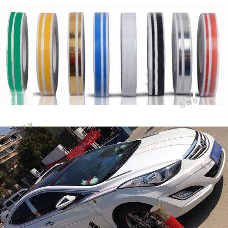 "12mm 1//2/"" Roll PIN STRIPE Car Striping Trim Double Line TAPE Decal Vinyl Sticker"
