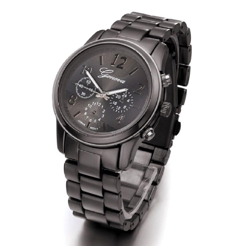 ETOP Ladies Women Girl Stainless Steel Quartz Wrist Watch 4 Colours (Black) Malaysia