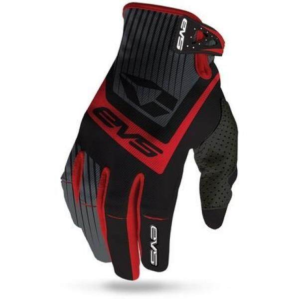 EVS Olahraga Unisex-Dewasa Pro Vector Sarung Tangan (Hitam/Merah, Medium)-Intl