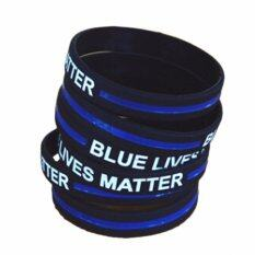 Fancyqube 1pc Silicone Rubber Wristband Bracelet Bangle Width 12mm Blue By Fancyqube Fashion.