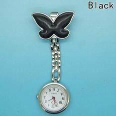 Fancyqube Nurse Clip-on Fob Brooch Pendant Hanging Fobwatch Butterfly Pocket Watch Black Malaysia