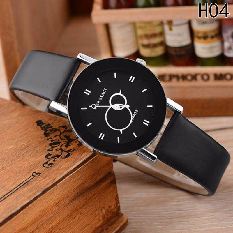 Fancyqube Unisex Classy White Leather Strap Watches Casual Sport Quartz Wristwatch Clock H04(Small dial) Malaysia