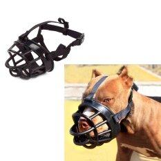 Fang Fang Anjing Peliharaan Dapat Disesuaikan Hitam Masker Gonggongan Gigitan Mesh Mulut Moncong Perawatan Anti Alat