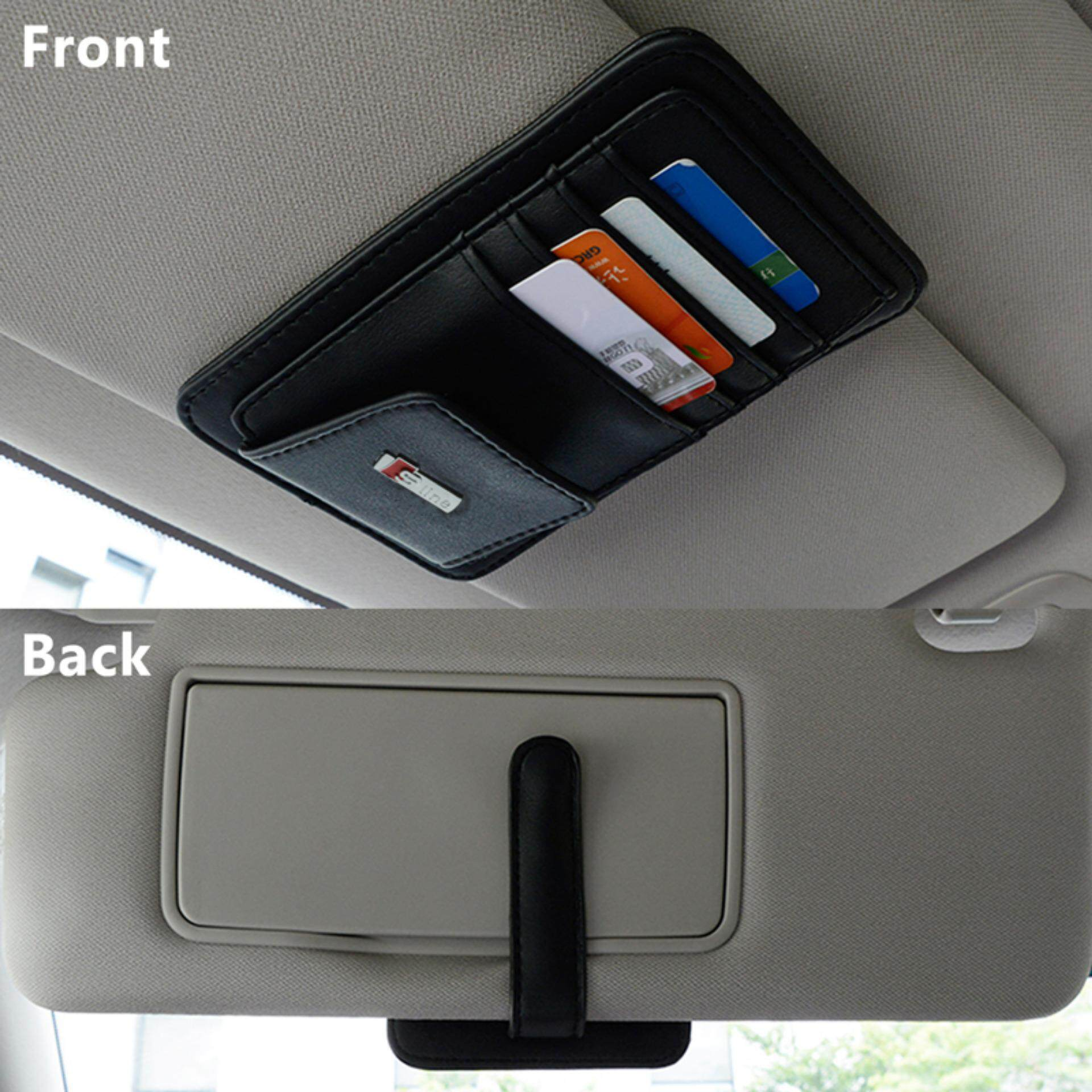 Buy Sell Cheapest 80 Pcs Sun Best Quality Product Deals G Smart Black Car Sunshade Pelindung Kaca Mobil Dari Sinar Matahari Visor Document File Holder Clip Card Slot Color With 5 Pocket For S Line Logo Audi A1 A3 A4 B6 B8 A6 C5 A7 Q3 Q5 Q7
