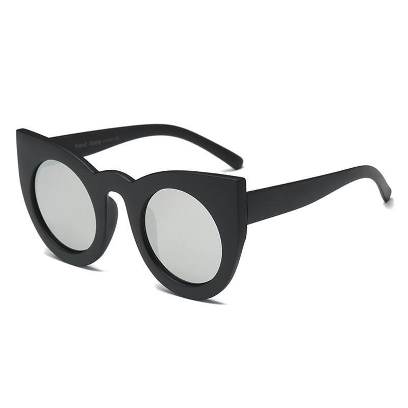 Fashion Cat Eye Lady Sunglasses Western Style Big Frame Kacamata-Pasir  Hitam dan Putih Mercury 550b79b20c