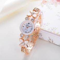 Fashion Ladies Women Unisex Stainless Steel  Rhinestone Quartz Wrist Watch A Malaysia