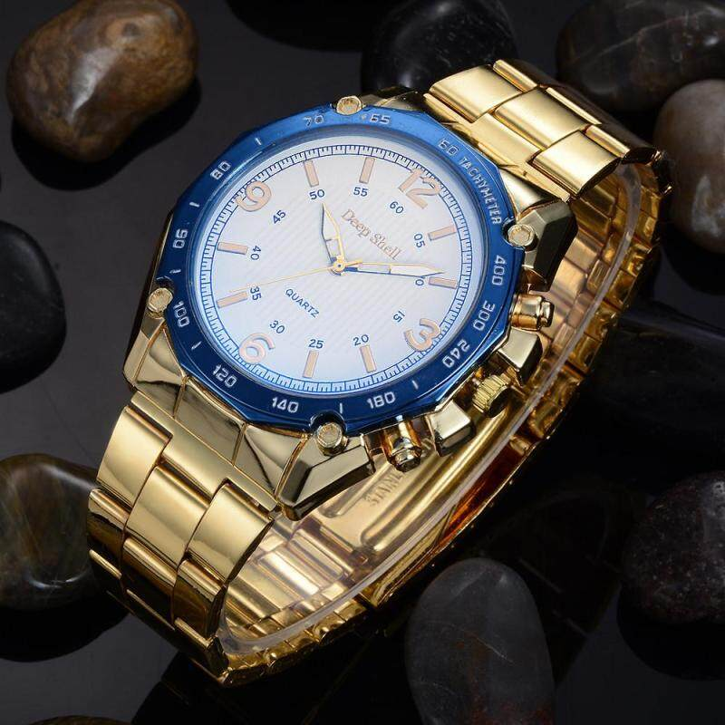 Fashion Man Crystal Stainless Steel Analog Quartz Wrist Watch Malaysia