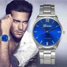 Fashion Man Women Crystal Stainless Steel Analog Quartz Wrist Watch Silver Malaysia