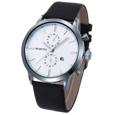 Fashion Men Casual Waterproof Date Leather Military Japan Watch Gift Black Malaysia