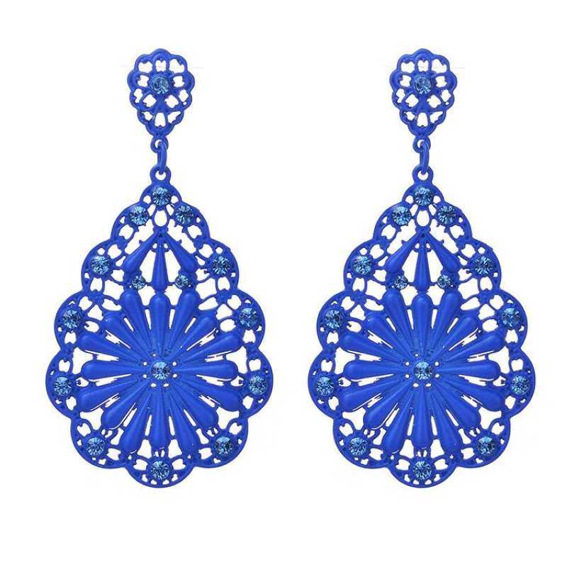 FF8866YY Fashion Baru Wanita Kristal Berlian Imitasi Emas dan Perak Sterling Perhiasaan Elegan Anting Hoop Penutup