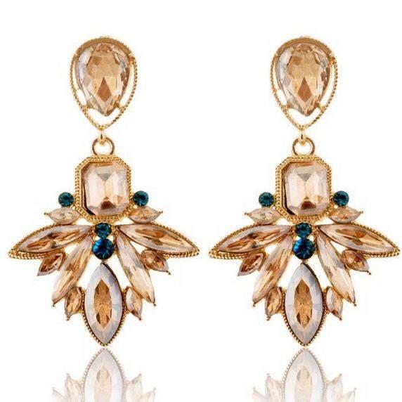 Sanwood® Wanita Emas Bersalut Berlian Imitasi Huggie Anting-Anting Besar Dan .