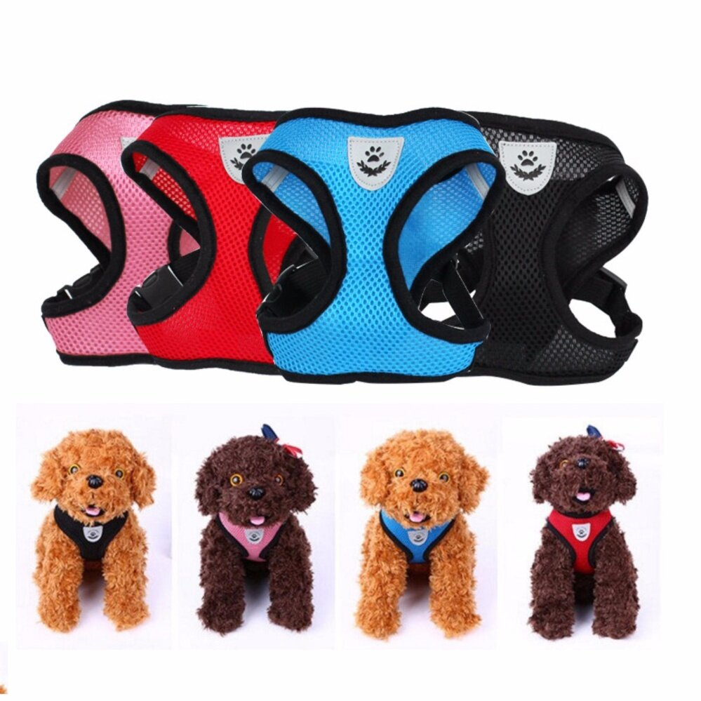 Fashion Pet Dog Vest Harnesses Breathable Comfortable Pet Supplies Leashes Dog Safety Mesh Chest Strap(black Size L) - Intl By Gebistore.