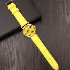 Fashion Pineapples Pattern Leather Band Analog Quartz Vogue Watches Malaysia