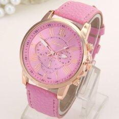 【Time-limited Promotion】 Fashion PU Leather Band Round Analog Quartz Watch Women Lady