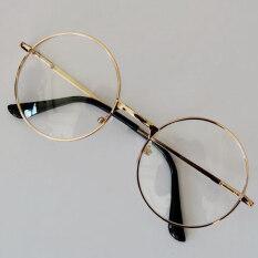Fashion Retro Round Circle Eyeglasses Original Clear Lens Glasses 2 Styles e0c5577c82