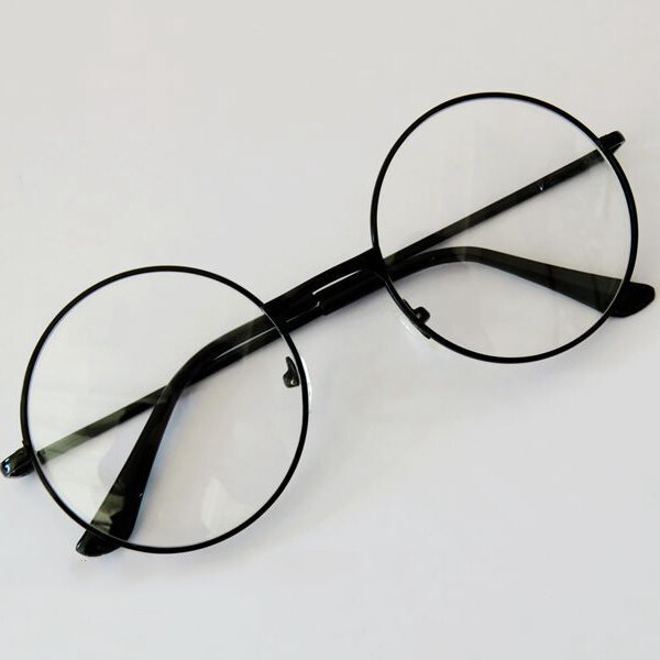 ca4127e2fe Fashion Large Oversized DIY Metal Frame Clear Lens Round Circle Eye Glasses  Dec