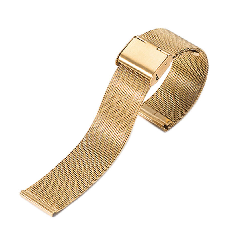 Fashion Stainless Steel Mesh Replacement Wrist Watch Band Strap Bracelet Belt 20mm Width Gold Malaysia