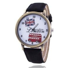 Fashion Union Flag London Bus Watch Women Casual Luxury Jeans Wristwatch (Black) Malaysia