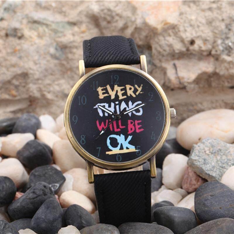 Fashion Women Men Unisex Analog Quartz Sport Wrist Watch Watches Black Malaysia