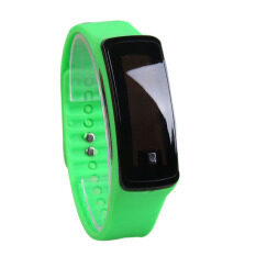 Fashion Women Sport Digital LED Touch Screen Silicone Rubber Strap Watch (Green) Malaysia
