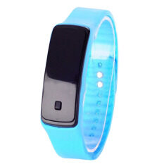 Fashion Women Sport Digital LED Touch Screen Silicone Rubber Strap Watch (Sky Blue) Malaysia