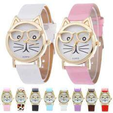 Fashionable Quartz Glass Mirror Watch For Women Or Man Funny Cute Cat Animal Malaysia