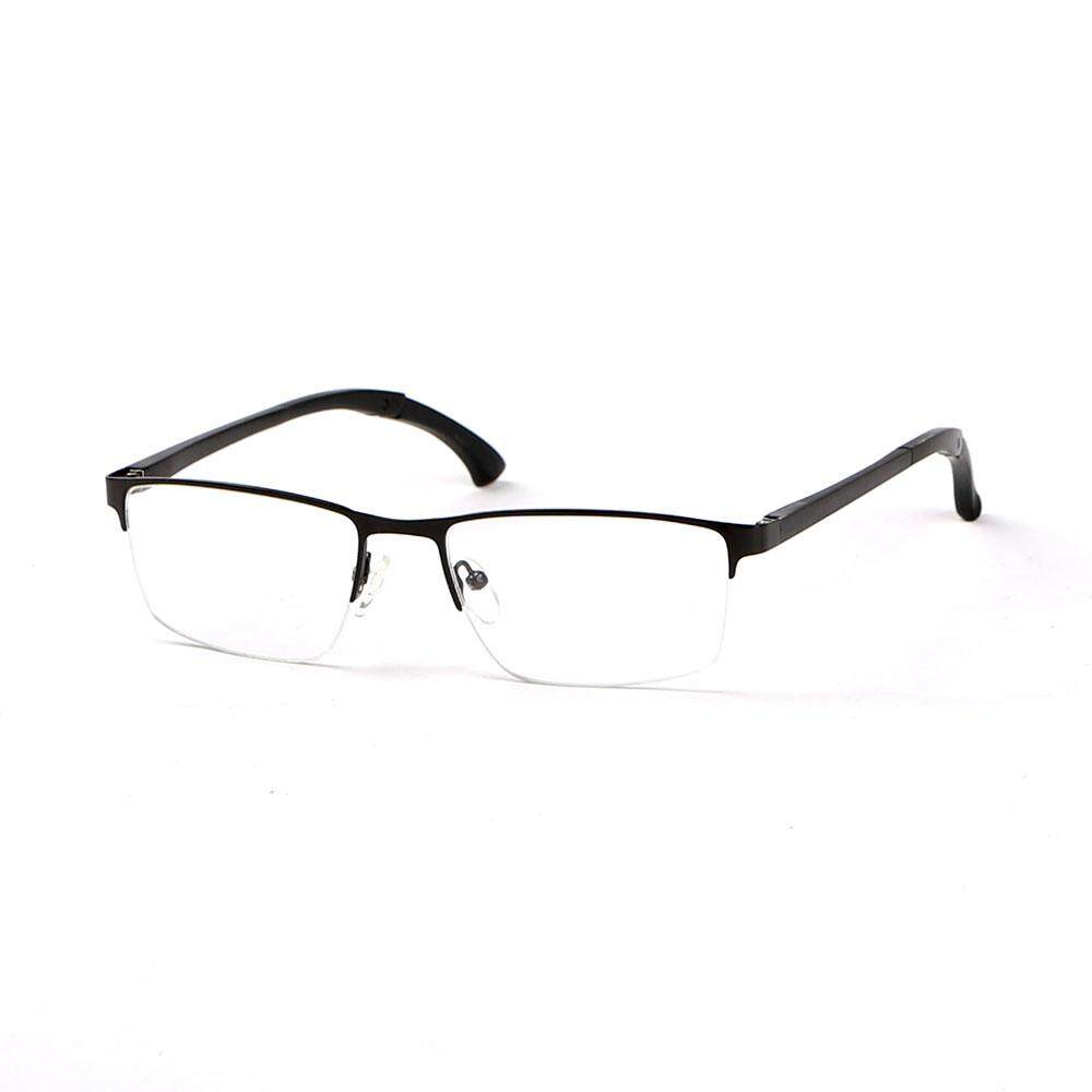Feelz Optik Myopia Bingkai Paduan Kacamata Deformable Kaki Tontonan Kacamata Setengah Rim Kacamata untuk Pria dan