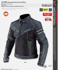 Api Penjualan JK006 Denim Mesh Pakaian Denim Jas Motor Hitam Biru Tua Riding (Warna: Biru/Ukuran: M)