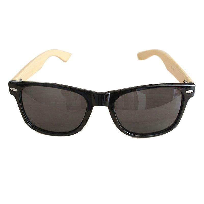 e03301aaea Finleyshop Men Women Glass Retro Vintage Bamboo Wood Sunglasses Wooden Frame  BK - intl