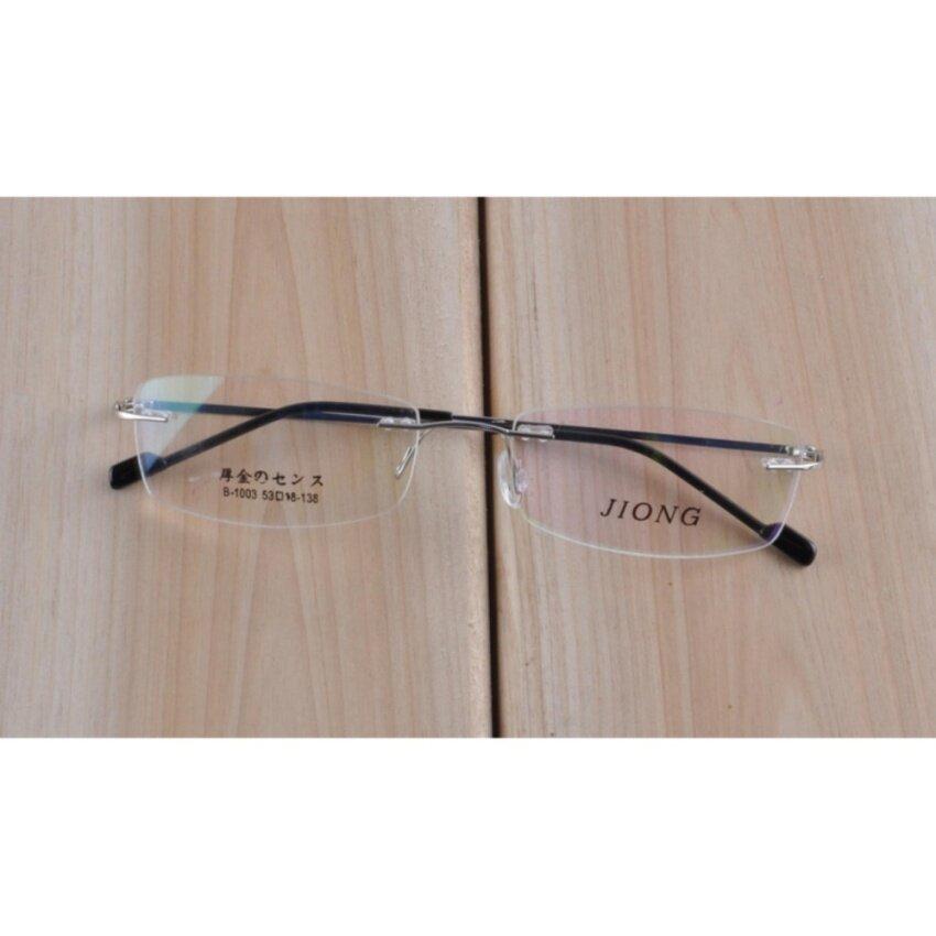 Fleksibel Kacamata Tanpa Bingkai Kacamata Optik Resep Kacamata Untuk Women dan Pria Frame 1003 Kacamata Perak