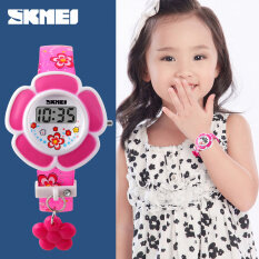 Flower Girls Fashion Casual Cute Wrist Watch Band-Rose Red Malaysia